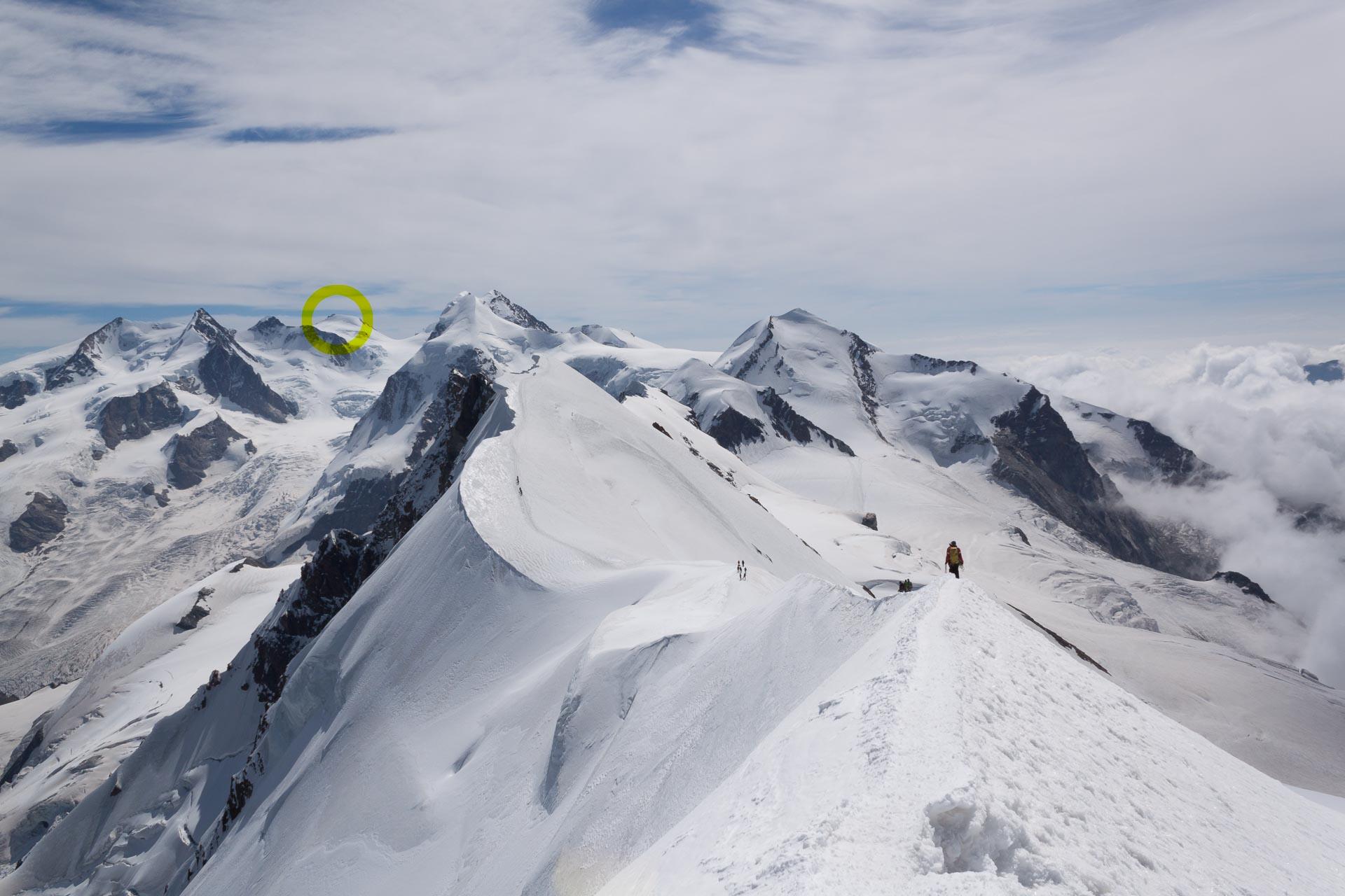 Auf meinem mehrtägigen Weg von Zermatt zu Europas höchstgelegenem Gebäude, der Capanna Margeritha [4.554 m.] in Italien.
