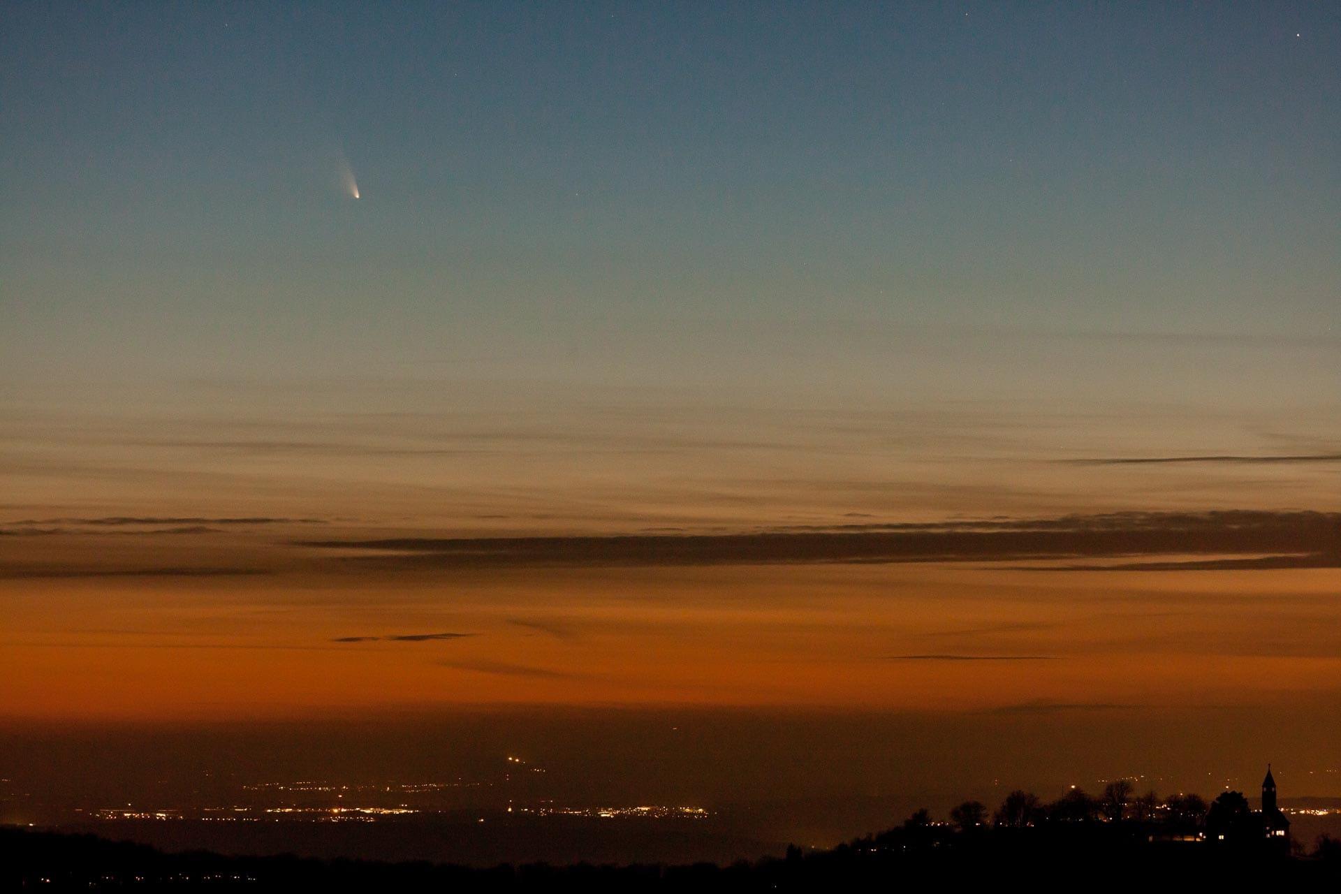 Schwäbische Alb, Komet C/2011 L4 Panstarrs