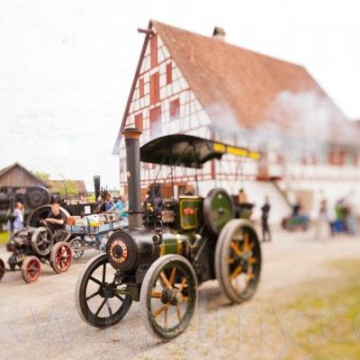 Lokomobil Dampffest. Der Fotograf spielt mit Schärfe und Unschärfe.