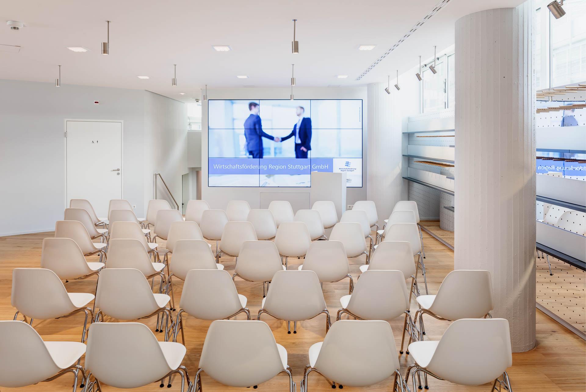 Das Gutbrod. Lounge der Wirtschaftsförderung Region Stuttgart. Atelier Brückner