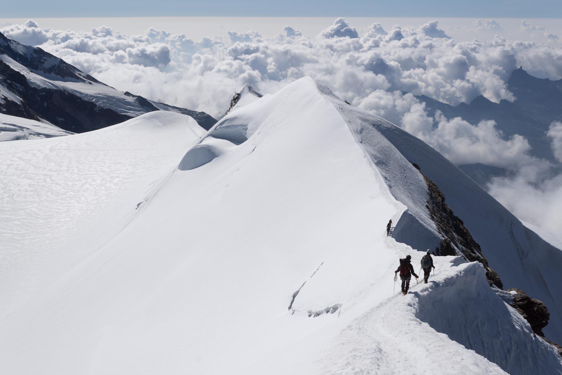 Blick vom Castor-Abstieg