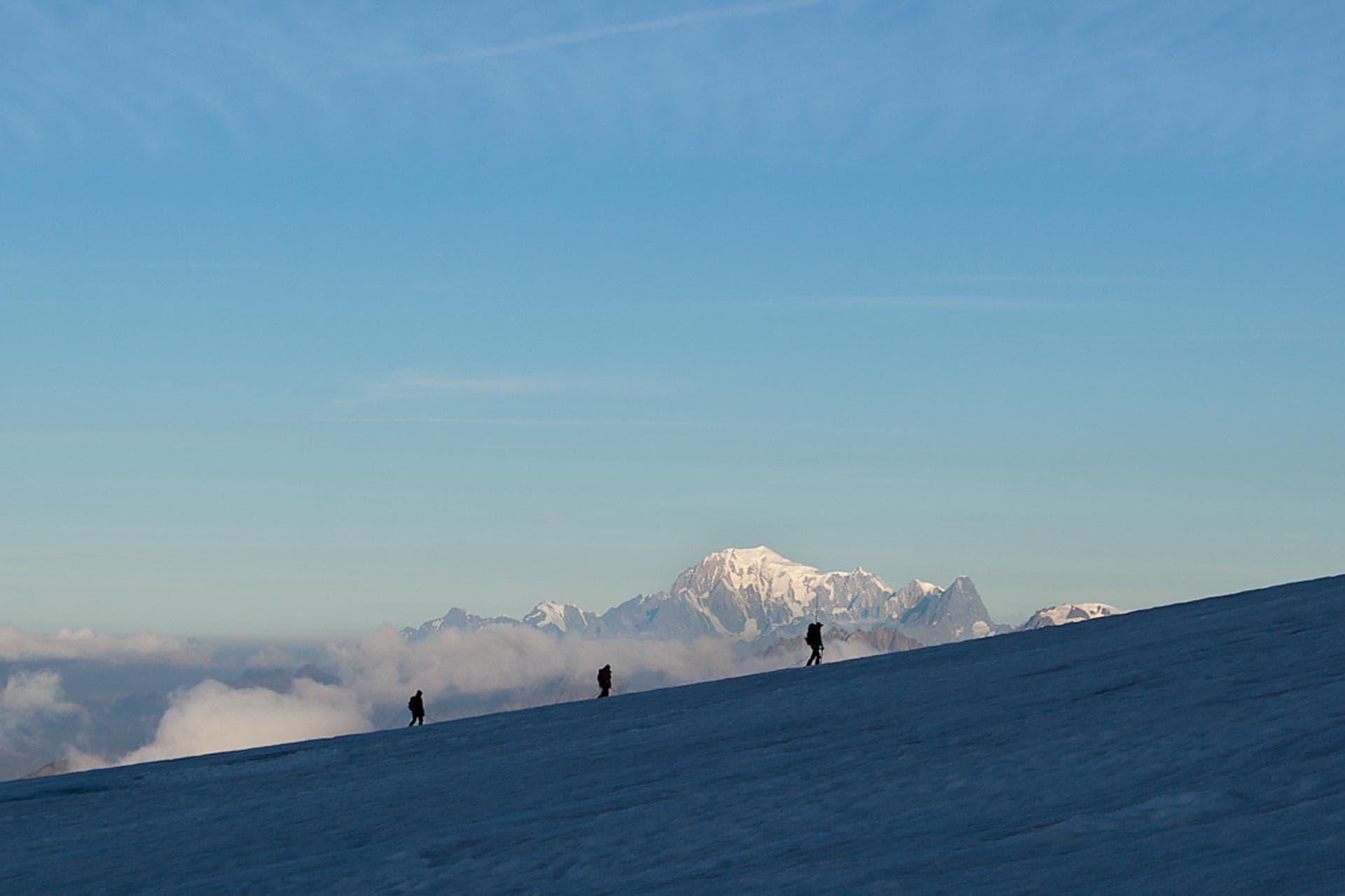 Mont Blanc im Hintergrund