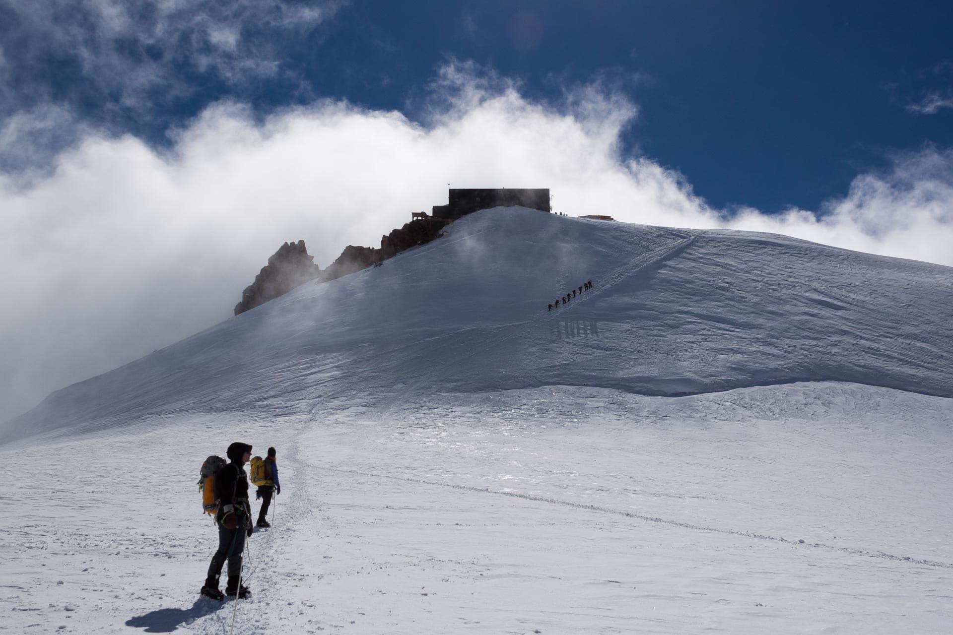 Europas höchstgelegenes Gebäude, die Capanna Margeritha [4.554 m.] in Italien.