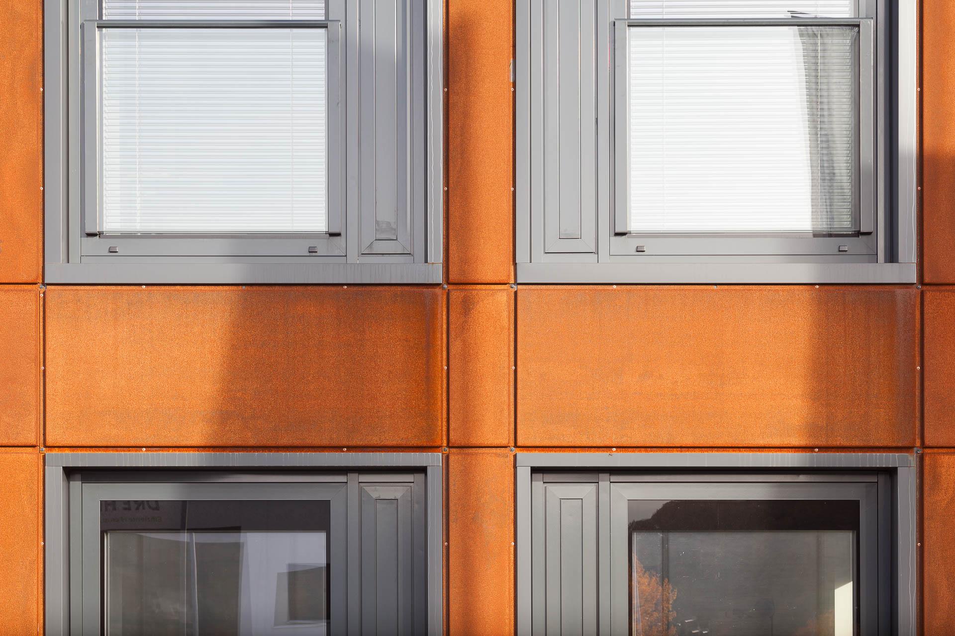 Cortenstahl Fassade Dirk Wilhelmy Fotografie Stuttgart