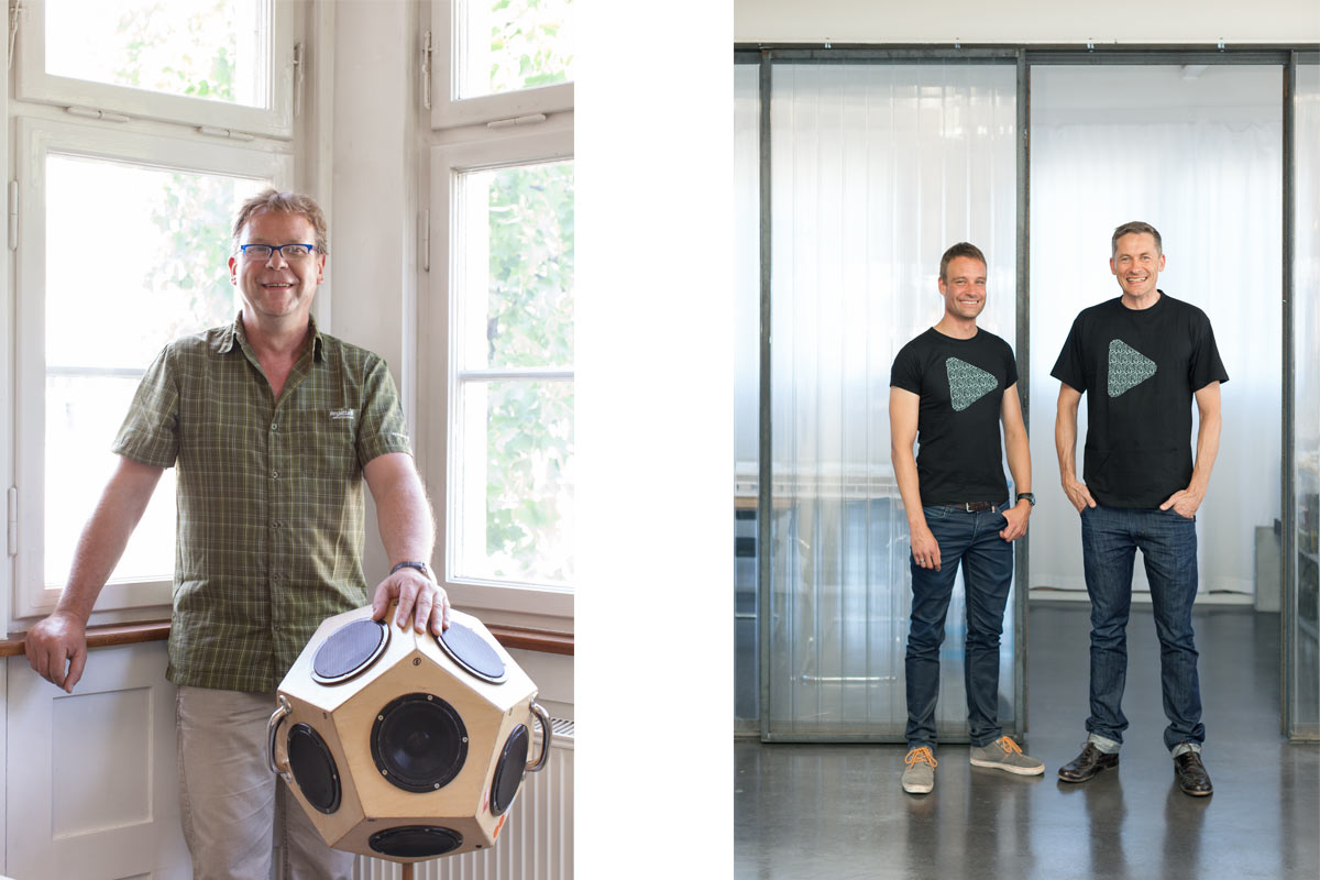People-Fotografie für die Deutsche Bauzeitschrift: Herr Gerlinger von Gerlinger+Merkle Ingenieurgesellschaft und die Herren Hämmerl und Kliebe von den mgf Architekten.