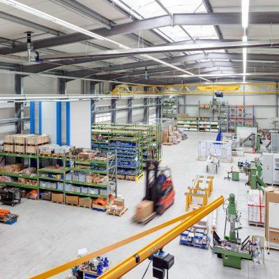 Industriefotografie: Leichtbauhalle
