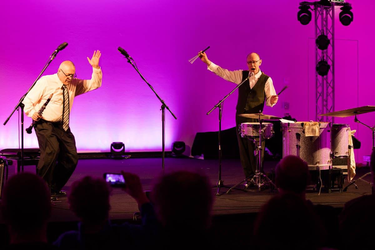 Konzertfotografie Kunstmuseum Stuttgart: 'I got Rhytm'-Veranstaltung mit Rüdiger Carl & Sven-Ake Johansson