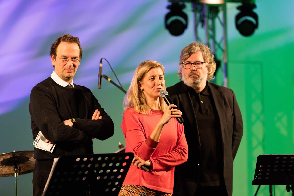 Die Kuratoren der Sonderausstellung: Sven Beckstette, Ulrike Groos und Markus Müller