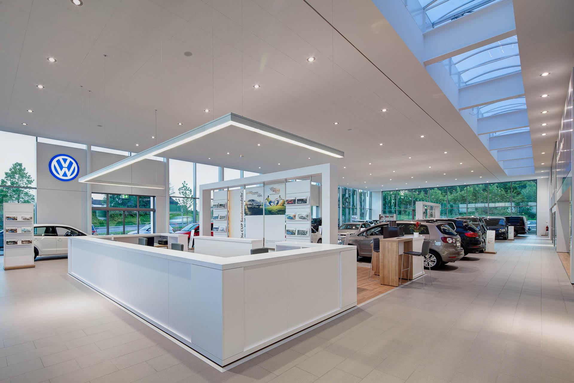 Professionelle Innenarchitekturfotografie im VW- Autohaus