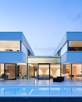 Privathaus mit speziellen Oberflächen