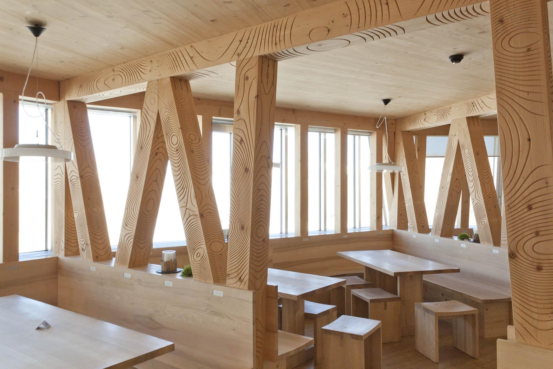 Monte Rosa Hütte innen, Zermatt Schweiz