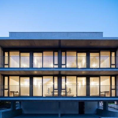 Architekturfotografie Tübingen: Das Runde im Eckigen