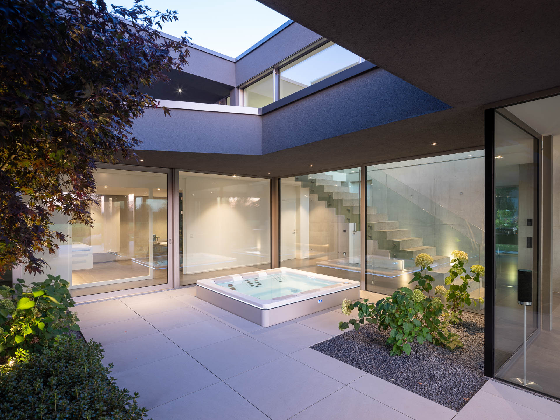 Architekturfotografie Waiblingen: Büro- und Wohnhaus